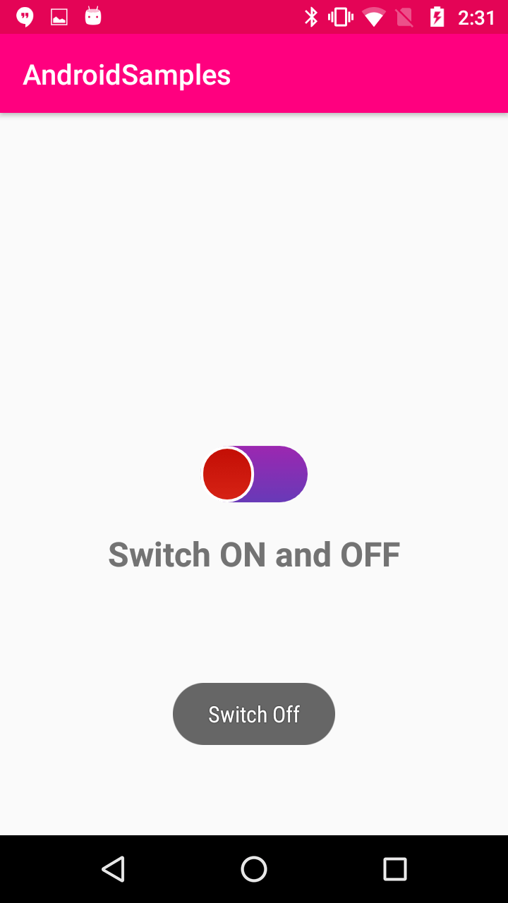 Kotlin - Android Switch Button