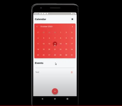 Flutter Calendar App Using TableCalendar & Sqflite