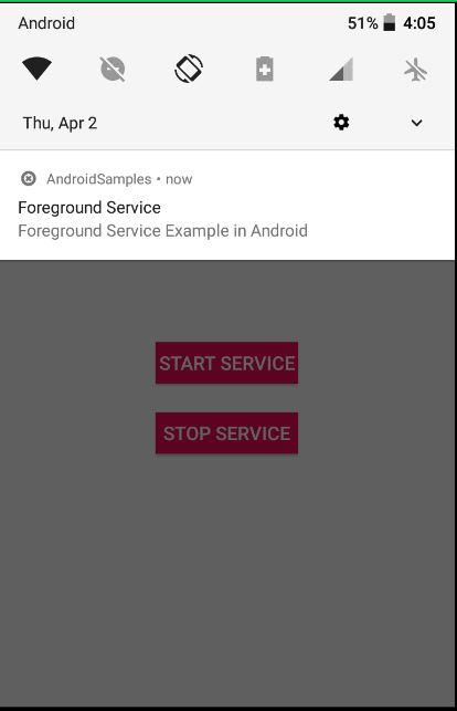 Android Foreground Service