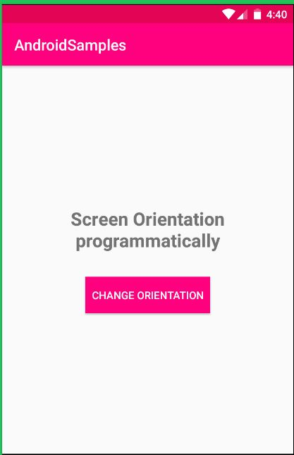 Screen Orientation Android