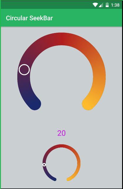 Circular Seekbar in Android