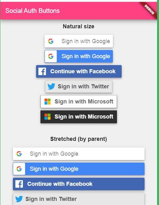 Social Authentication Widget